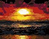 DIY Pintura digital Paisaje artístico Pintura al óleo con