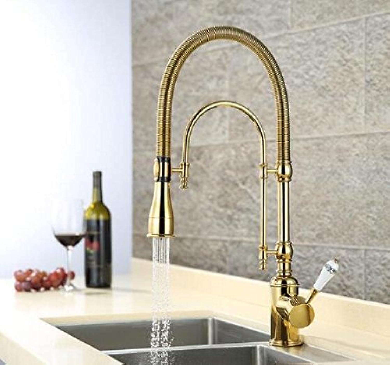 CZOOR Neuheiten ziehen Küchenarmatur Gold Küchenspüle Mischbatterie Küchenarmatur Waschtisch Wasser Wasserhahn Spüle Wasserhahn