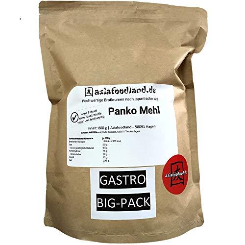 Asiafoodland - Gastro - Groß-Packung - Premium Panko - Paniermehl – ohne Palmöl, ohne Zusatzstoffe, vegan - Panierbrot - Brotkrumen nach japanischer Art, 1er Pack (1 x 800g)