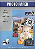 PPD 50 Sheets Inkjet Glossy Photo Paper 8.5x11 49lbs 180gsm 9.9mil Letter Size Instant Dry and Water-Resistant (PPD-24-50)
