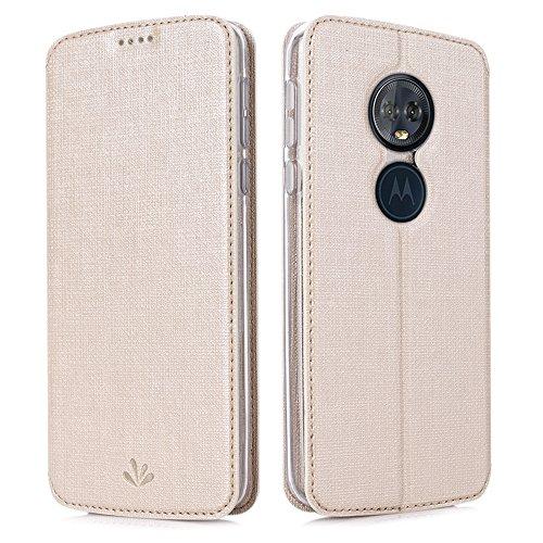 Eastcoo Handyhülle für Motorola Moto G6 Play Hülle PU Leder Flip Hülle Tasche Cover Schutzhülle mit [Standfunktion][Magnetic Closure][Wallet] für Motorola Moto g6 Play Smartphone (Golden)