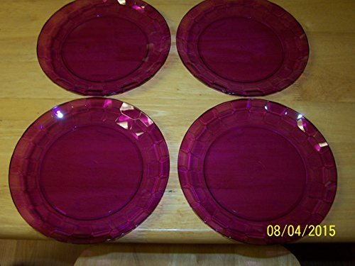 "Tupperware Set of (4) Desert Plates 8"" Acrylic Sheer Purple"