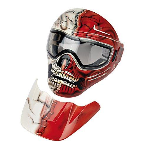 Midland Maske Save Phace für Air, Carnage Unisex–Erwachsene, Grau/Rot, S, M, L, XL