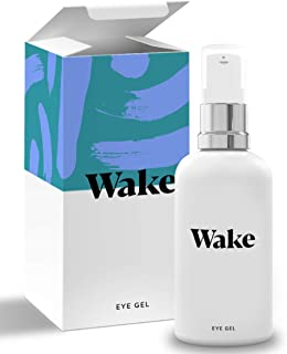 Wake Skincare Eye Gel - Hydrating Eye Serum for Puffy Eyes, Dark Circles, Eye Bags, Crows Feet and Wrinkles – Vitamin E – Collagen - 30ml Anti Ageing Eye Cream