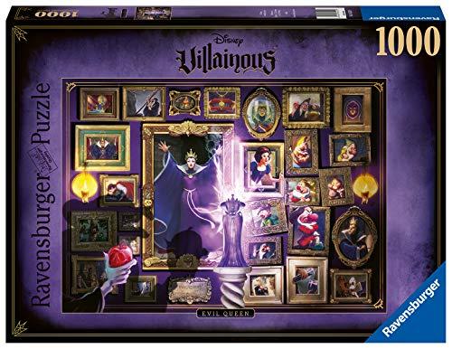 Ravensburger Puzzle 1000 Pezzi, Collezione Villainous, Puzzle per Adulti, Disney, Personaggi Cattivi, Regina Cattiva, Biancaneve