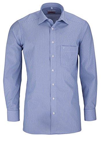 MARVELiS-Hemd SLIM/MODERN-FIT 7754-64-15 blau Streifen, Blau, Gr. 44