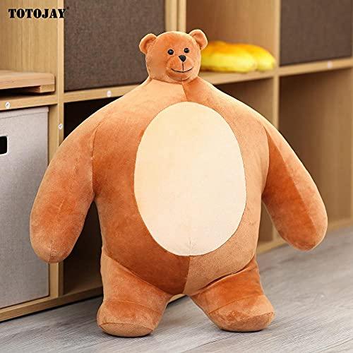 ZHANGWENJIE Plush Tiny Head Teddy Bear Toy Stuffed Small Head Big Muscle Body Sloth Panda Hug Pillow Chair Cushion Birthday Gift 47CM A