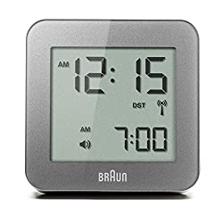 Braun BNC009GY-RC Digital Quartz Alarm Clock