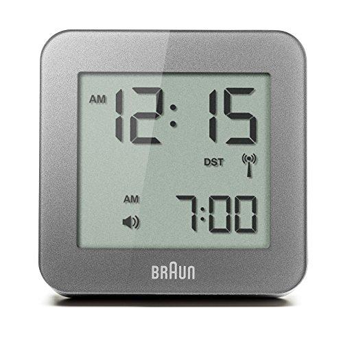 Braun BNC009GY-RC Digitale multimedia-wekker met sluimerfunctie, LCD-display, snelinstelfunctie, alarmfunctie, grijs, model