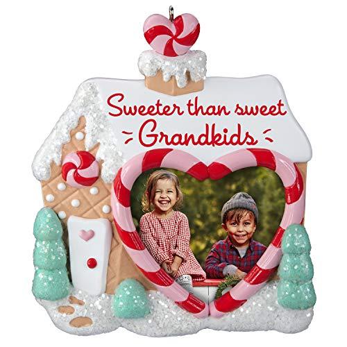 Hallmark Keepsake Christmas Ornament 2019 Year Dated, Sweet Grandkids Gingerbread House Photo Frame