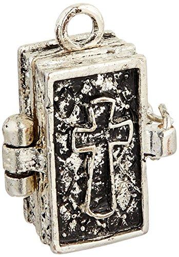 Darice Gabarit d'embossage Prière Boîte métal Charm 1/pakage-Antique Argent Bible