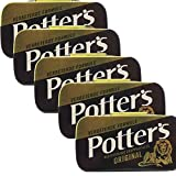 Potter's Original, Liquorice Lozenges, 12.5 Gr (0.44 Oz), (Pack of 5)