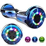 GeekMe Hoverboard 6.5'' Self Balance Scooter Las Ruedas LED Luces, Scooter eléctrico con Bluetooth...