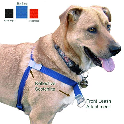 Walk Your Dog with Love, No-Pull Front-Attachment Harness (Sky Blue, 25-65 pounds)