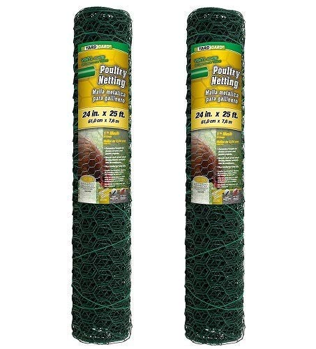 YARDGARD 2 Foot X 25 Foot 1 Inch Mesh PVC Coated Poultry Netting