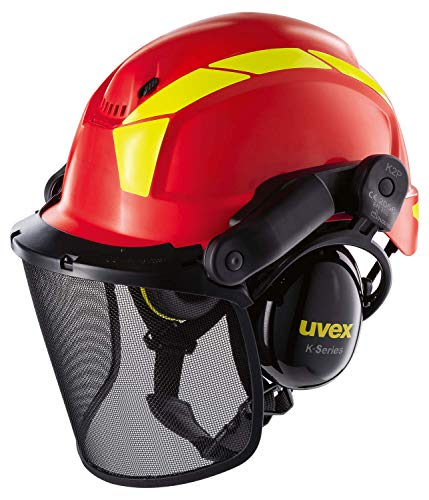 Uvex Pheos Forestry Helmet with Face Protection Visor Shield...
