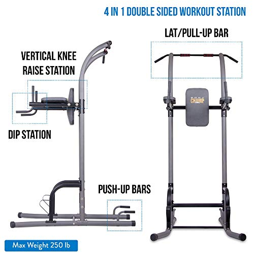 Product Image 5: Body Champ VKR1010 Fitness Multi function Power Tower / Multi station for Home Office Gym Dip Stands Pull Up Push up VKR, GREY, One Size