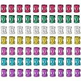Quesuc 120 diadema de metal, trenzas,trenzas, trenzas de colores, cuentas de colores,accesorios para el cabello, accesorios para el cabello (7 colores)