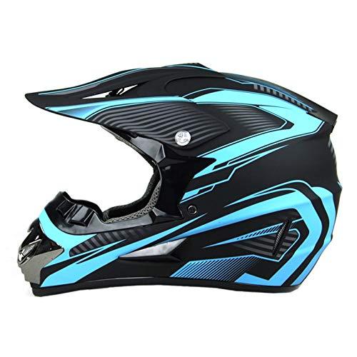 Motocross Helmet, Unisex Motorcycle Helmet ATV, Children's Outdoor Extreme Sports Protective Helmet, Youth Helmet Goggles Mask Gloves Off-Road Mountain Bike Helmet D.O.T Certified
