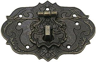 comprar comparacion TOOGOO Pestillo Cerrojo Corchete de 77 mm x 57 mm Caja de herramientas del pecho Caja de madera tono de bronce