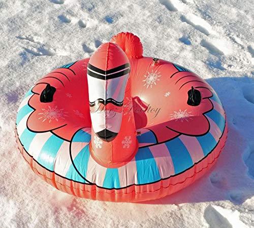 HPT Snow Tube/Rutschreifen/Schlitten im Flamingo Design aufblasbar