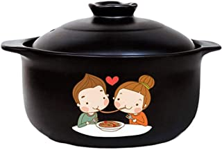CJTMY Cazuela - Cocina de inducción Cocina de Gas for Fuego de Gas Especial de cerámica Sopa de Olla Olla pequeña cazuela (Size : 4L)