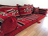 Orient Orientalische Sitzecke traditionell,Orientalische Sitzgruppe,Yogakissen,Orientalisches Sofa,Sitzkissen Designs das Original aus dem Golf √ Authentisch und Zertifiziert √Höher √ Größer√