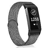 Plateado JohnJohnsen para Fitbit Ace Smart Pulsera para ni/ños Correa milanesa Alta HR Pulsera de Bucle magn/ético
