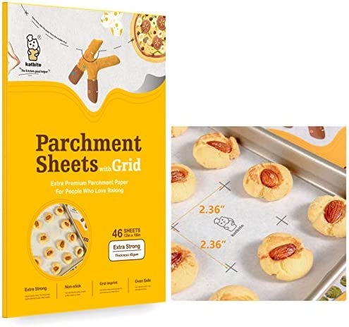 Katbite Heavy Duty Precut Parchment Paper Sheets for Baking Cookies 12x16 Inch Parchment Sheets product image