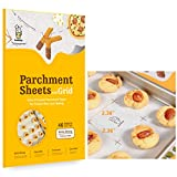 Katbite Heavy Duty Precut Parchment Paper Sheets for Baking Cookies, 12x16 Inch Parchment Sheets with Grid, 46 Count