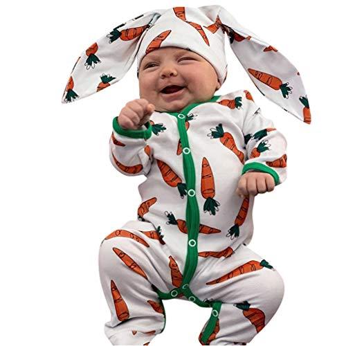 SUMTTER Ostern Baby Kleidung Karotte Strampler + Hose + Bunny Ohren Mütze 3D Cartoon Hase Kostüm Für Neugeborenes Jungen Mädchen