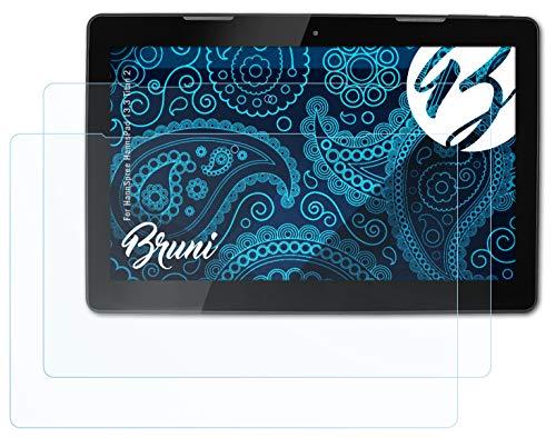 Bruni Schutzfolie kompatibel mit HannSpree HannsPad 13.3 Titan 2 Folie, glasklare Bildschirmschutzfolie (2X)