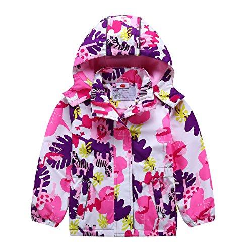HAOKTY Kinder Mädchen Matsch und Buddeljacke Regenmantel Regenjacke Frühlingsjacke (Color 3, 146/152)