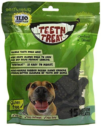 pet supplies inc dentals Ilio Dentals Teethtreat Dog Dental Treats, Medium, 15 Treats