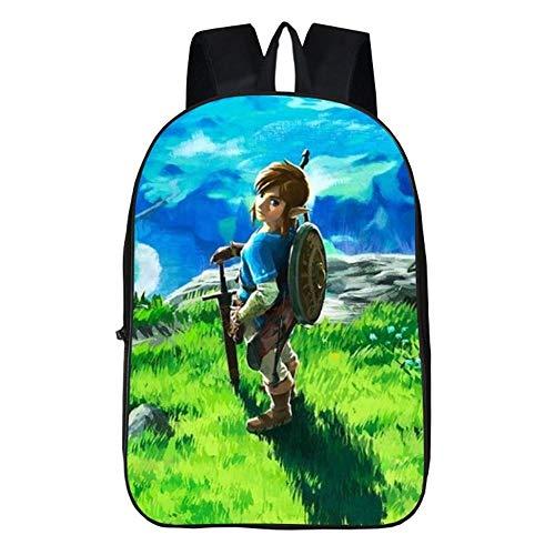 La légende de Zelda Sac d'école pour Enfants, Dessin animé Anime Sac à Dos Jeu Voyage Bookbag...