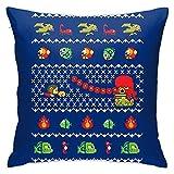 Alex Kidd In Christmas World Funda de Almohada Decorativa Cuadrada para el hogar, sofá, Dormitorio, Oficina, Asiento de Coche, Cubierta de 18 x 18 Pulgadas