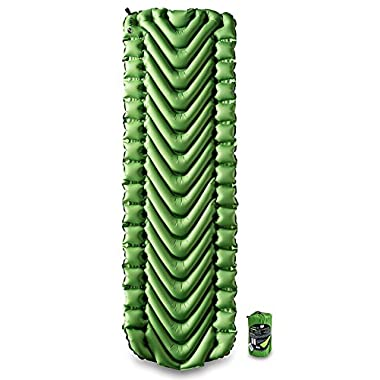 Klymit Static V Lightweight Sleeping Pad, Green/Char Black