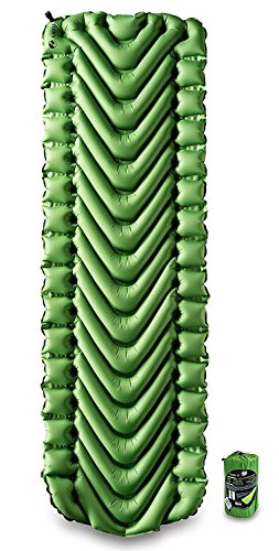 Klymit Static V Sleeping Pad, Lightweight, Outdoor Sleep Comfort for Backpacking, Camping, and Hiking, Inflatable Camping Mattress (Insulated and Non-Insulated)