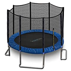 ASTM APPROVED DURABLE TRAMPOLINE – Our trampoline was tested and approved with ASTM standards, manufactured with reinforced jumping material and heavy duty engineered metal frame, our trampoline is designed to withstand extended use in all weathers 1...