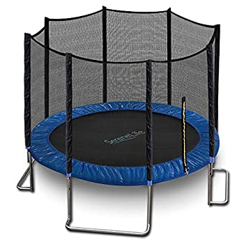 10ft ASTM Approved Trampoline with Net Enclosure – Stable Strong Kids and Adult Trampoline with Net – Outdoor Trampoline for Kids Teens and Adults – Reinforced Kids Blue  Model  SLTRA10BL