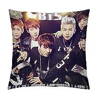 """BTS四角形6つのサイズある 素敵な枕のカバー昼寝高品質18""""×18"""""""
