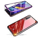 Jonwelsy Huawei P30 Hülle, Stark Magnetische Adsorption Technologie Metallrahmen, Transparent Gehärtetes Glas Rückseite Handyhülle für Huawei P30 (6,1 Zoll)