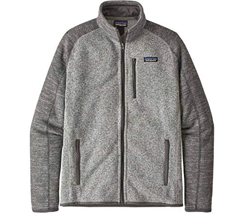 Patagonia Herren M's Better Sweater JKT, Nickel w/Forge Grey, M