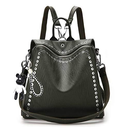 JOSEKO Mode Rucksäcke Damen, Frauen Stilvolle Tagesrucksack PU Leder Tote Handtasche Vintage Schultertasche Casual Daypack für Schule Reise Arbeit
