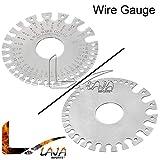 LAJA Imports Wire Gage Thickness Gauge Measurer Tester Ruler Gauge Diameter Tool WG-002