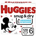 Huggies Snug & Dry Baby Diapers, Size 6, One Month Supply, 128 Count