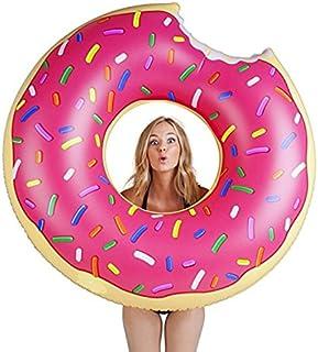【OK basket】かわいい ドーナツ 浮き輪 大人用 大きい ドーナツ型 浮輪 『 120cm 可愛いドーナツの形をした浮輪』 ビーチ ナイトプール プール リゾート 海に最適アイテム ! 【ストロベリー】