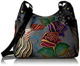 Anna by Anuschka Hobo Handbag | Genuine Leather | Rose Safari Grey