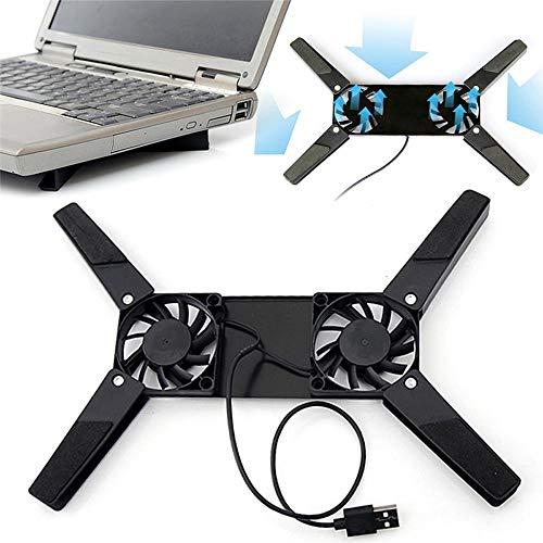 Laptop Desk Ondersteuning Koeling Ventilator Notebook Computer Stand Opvouwbare USB Rek Houder Licht gewicht