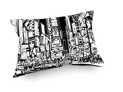 weewado Isabel Da Silva Azevedo - Ville de New York dans la Nuit 60x40 cm Canapé Coussins - Art, Image, Peinture, Photo - Villes Et Voyage